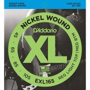2 Sets of D'addario EXL165 Bass Guitar Strings 45-105