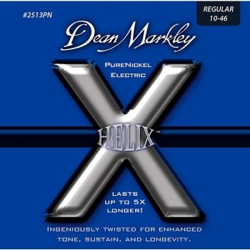Dean Markley 2 Sets of Dean Markley Helix Pure Nickel Electric Guitar Strings 10-46