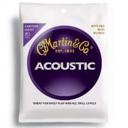 3 Sets Martin M175 80/20 Acoustic Strings 11-52 Gauge Custom Light
