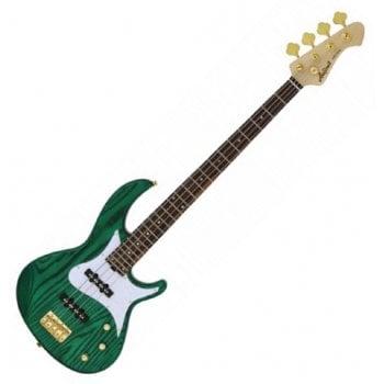 Aria RSB 42AR SGR Electric Bass Guitar - See-Through Green