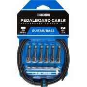 Boss BCK-6 Solderless Pedalboard Cable Kit - 6 Connectors, 6ft Cable