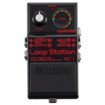 Boss RC-1 Loop Station 1 Million Special Edition Looper, Black