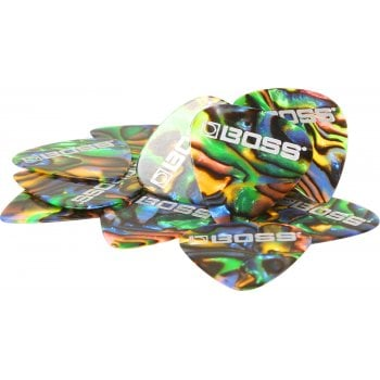 Boss USA Celluloid Picks 12 Pack - Abalone