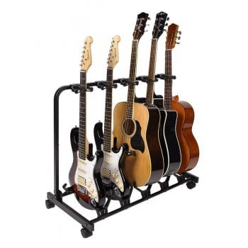 Boston GS-905 Universal Guitar Rack Stand For Five Guitars w/ a Quick Lock Mecanism