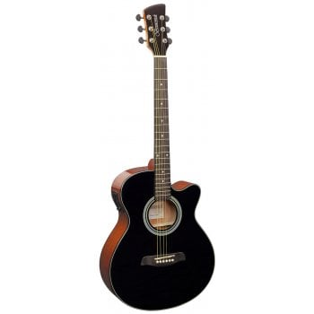 Brunswick BTK50 Grand Auditorium Cutaway Electro-Acoustic Guitar - Black
