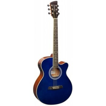 Brunswick BTK50 Grand Auditorium Cutaway Electro-Acoustic Guitar - Blue