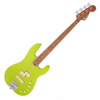 Charvel Pro-Mod San Dimas Bass PJ IV, Caramelized Maple Fingerboard, Lime Green Metallic