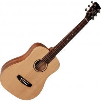 Cort AD Mini OP 3/4 Acoustic Guitar, Open Pore Natural