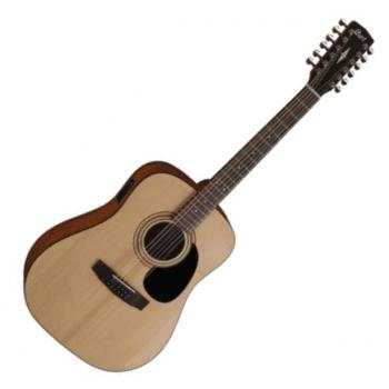 Cort AD810-12E OP Dreadnought 12-String Electro-Acoustic Guitar, Open Pore