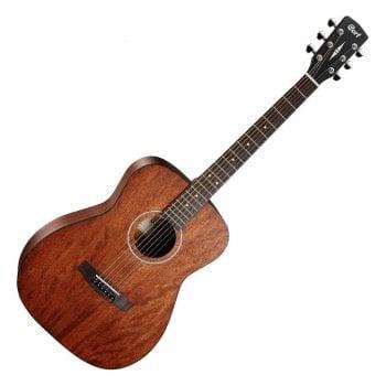 Cort AF510M-OP Standard Series Acoustic Guitar, Concert Body, Open Pore Mahogany