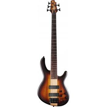 Cort Artisan C5 Plus ZBMH Open Pore Active 5-String Bass Guitar Markbass - Tobacco Burst