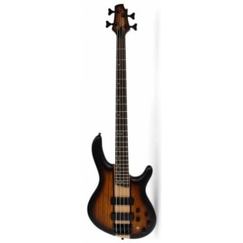 Cort C4 Plus ZBMH OTAB Open Pore Tabacco Burst Electric Bass Guitar with Mark Bass Pre Amp