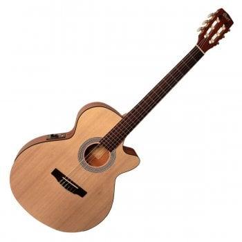 Cort CEC1-OP Electro-Acoustic Classical Guitar, Open Pore Natural