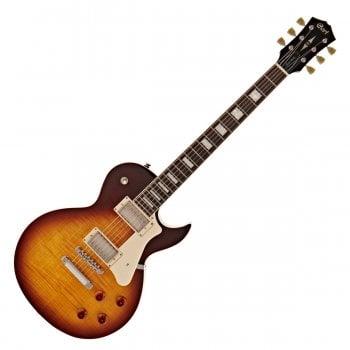 Cort CR250 Classic Rock Series Les Paul Style Electric Guitar, Vintage Burst