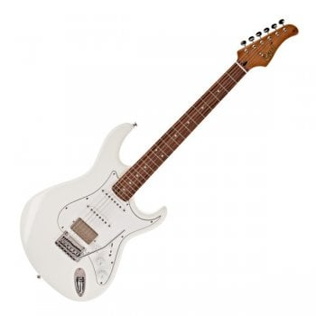 Cort G260CS Stratocaster Style Electric Guitar, Olympic White