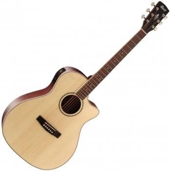 Cort GA-MEDX OP Grand Auditorium Regal Series Electro-Acoustic Guitar, Open Pore