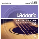 D'Addario EJ16 Phosphor Bronze Custom Light Acoustic Guitar Strings 12-53