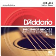 D'Addario EJ17 Phosphor Bronze Medium Gauge Acoustic Guitar Strings 13-56