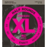 D'addario ENR71 Half Wound (Semi Flatwound) Bass Strings 45-100