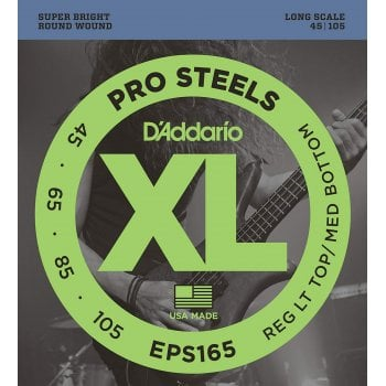D'addario EPS165 ProSteels Long Scale Custom Light Gauge Bass Strings 45-105