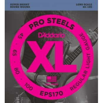 D'addario EPS170 ProSteels Long Scale Light Gauge Bass Strings 45-100