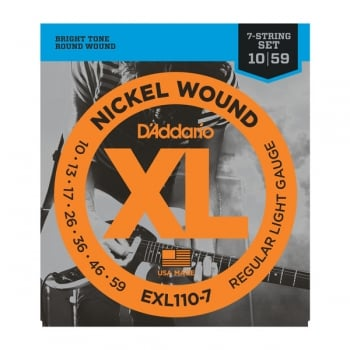 D'addario EXL110-7 7 String Electric Guitar Set 10-59