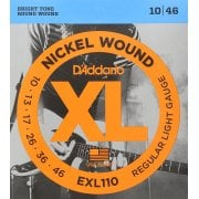 D'addario EXL110 Regular Light Gauge Electric Guitar Strings 10-46
