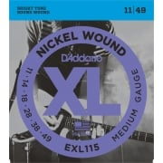 D'addario EXL115 Medium/Blues Jazz Rock Electric Guitar Strings 11-49