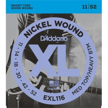 D'addario EXL116 Medium Top/Heavy Bottom Electric Guitar Strings 11-52