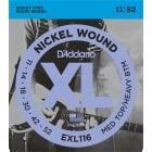 D'addario EXL116 Medium Top/Heavy Bottom Electric Guitar Strings 11-52