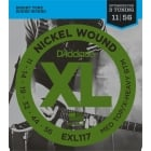 D'addario EXL117 Medium Top/Heavy Bottom Electric Guitar Strings 11-56