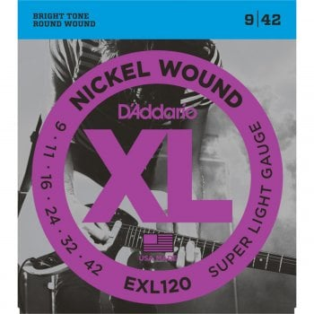 D'addario EXL120 Super Light Gauge Electric Guitar Strings 9-42