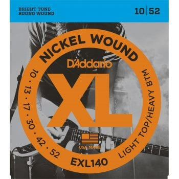 D'addario EXL140 Light Top/Regular Bottom Electric Guitar Strings 10-52