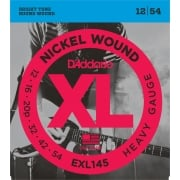 D'addario EXL145 Heavy (Plain 3rd) Electric Guitar Strings 12-54