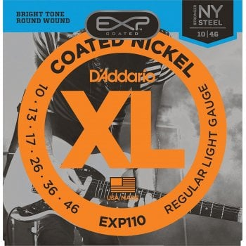 D'addario EXP110 Coated Electric Guitar Strings 10-46