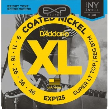 D'addario EXP125 Coated Electric Guitar Strings 9-46