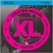 D'addario EXP170 Coated Nickel Wound Bass, Light, 45-100, Long Scale