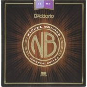 D'Addario NB1152 Nickel Bronze Custom Light Acoustic Guitar Strings 11-52