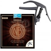 D'ADDARIO NB1253-CP10 NB1253 Strings Plus NS Artist Capo Bundle