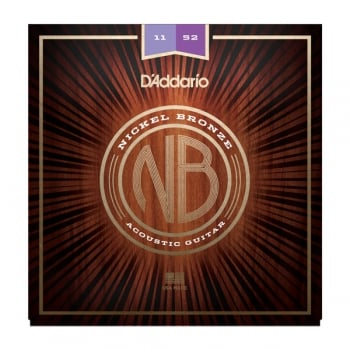 D'addario Nickel Bronze Custom Light 11-52 Acoustic Guitar Strings
