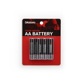 D'addario Tour Grade AA Batteries - Pack of 4