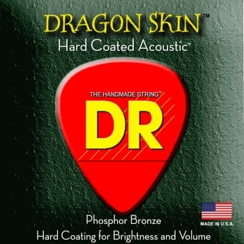DR Dragon Skin 11-50 Phosphor Bronze Coated Acoustic Guitar Strings 2 Sets