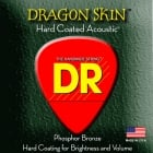 DR Dragon Skin 12-54 Phosphor Bronze Coated Acoustic Guitar Strings 2 Sets