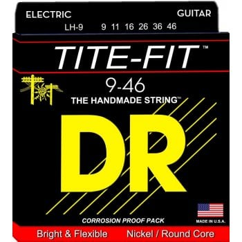 Dr Strings DR Tite Fit LH-9 Electric 9-46 Gauge Guitar Strings x3 Pack