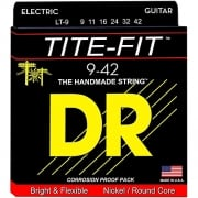 DR Tite Fit LT9 9-42 Gauge Electric Guitar Strings x3