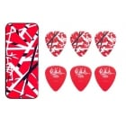 Dunlop EVHPT02 EVH Max-Grip Pick Tin (Red Frankenstein)