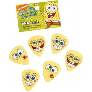 Dunlop Spongebob Squarepants Guitar Picks / Plectrums Heavy Gauge Pack of 6