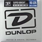 Dunlop Super Bright Steel 5 String Bass Set 45-125