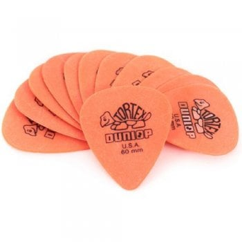 Dunlop Tortex Orange 0.60mm Guitar Picks (12 Pack)