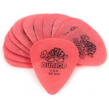 Dunlop Tortex Pink 0.50mm Guitar Picks (12 Pack)